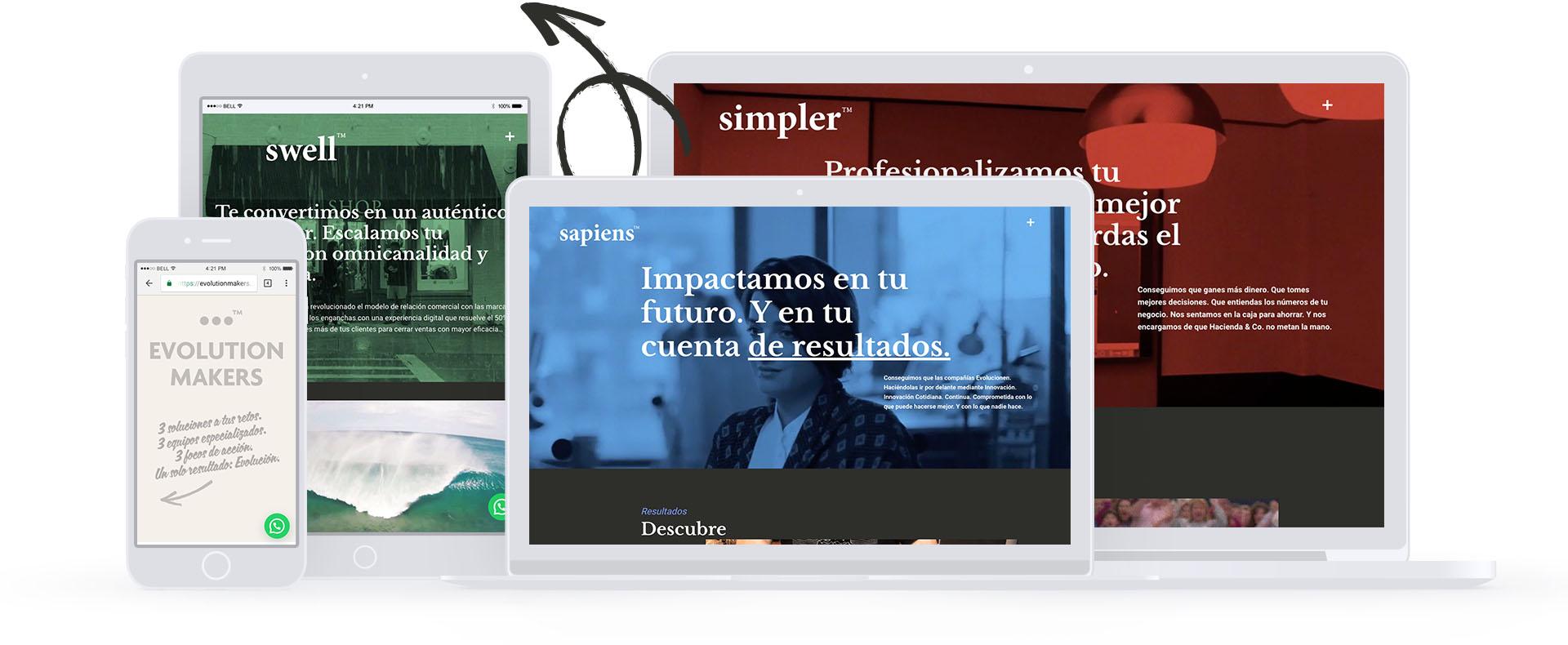 Diseño_web_sub_marcas_evolutions_makers